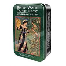 Smit Waite centennial desk Tarot Таро Уэйта-Смитт Памеллы таро в жестяной коробке